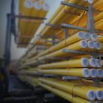 yellow gas pipe GIS/PL2-2
