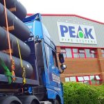 Lorry loaded with pipe